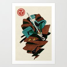 Slice & Dice - Ninja Art Print