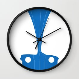 Silhouette Racers - Mazda MX5 in Blue Wall Clock