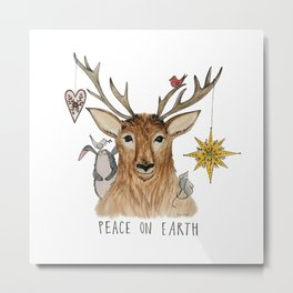 Peace on Earth - Forest animals Metal Print