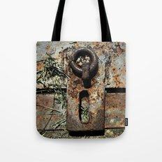 Old Unlocked Lock Tote Bag