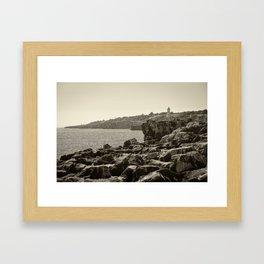 Dans le roc Framed Art Print