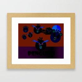 """""""Angry Penguins"""" Framed Art Print"""