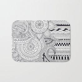 Bohemian Pattern Print Bath Mat