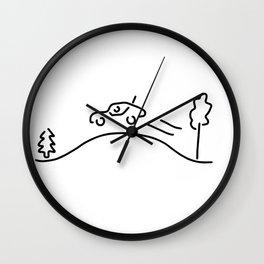 ralley rally car racing offroad Wall Clock