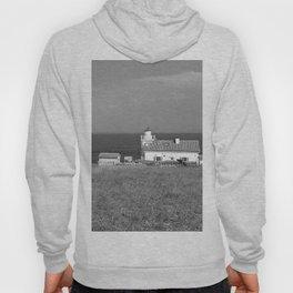 beach front lighthouse medulin croatia istria europe black white Hoody