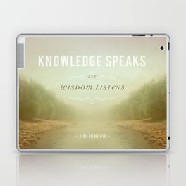 Knowledge Speaks Laptop & iPad Skin