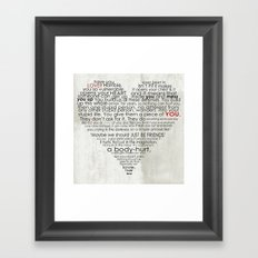 I hate love Framed Art Print