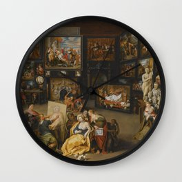 Willem van Haecht - Alexander the Great visits the studio of Apelles Wall Clock