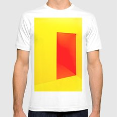 Open Door White MEDIUM Mens Fitted Tee
