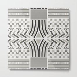 Festive pattern (black & white) Metal Print