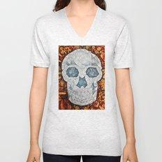 Galvanized Skull Unisex V-Neck