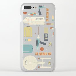 To Boldly Go... Clear iPhone Case
