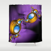 insects Shower Curtains featuring Jewelry for Alien Insects by 21citrouilles