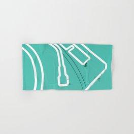 Neon Turntable 3 - 3D Art Hand & Bath Towel