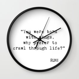 You were born with wings. Wall Clock