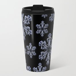 Frosty Snowflakes Travel Mug