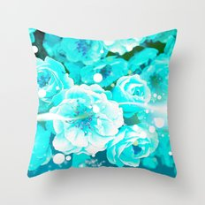 THE ENERGY OF FLOWERS Throw Pillow