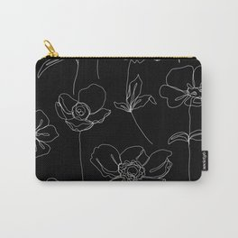 Botanical illustration drawing - Botanicals Black Carry-All Pouch