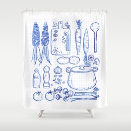 Vegetable Soup Shower Curtain