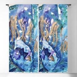 Golden Jellyfish Blackout Curtain
