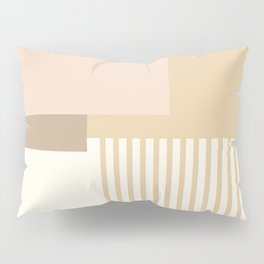 Sol Abstract Geometric Print in Tan Pillow Sham
