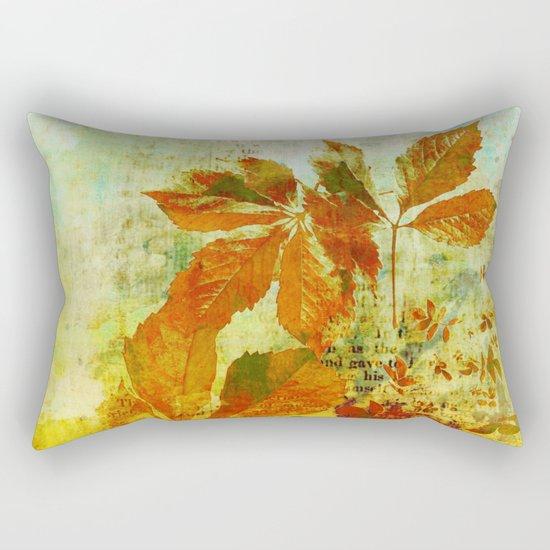 mixed media leaves Rectangular Pillow