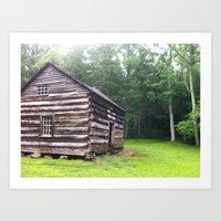 cabin Art Prints featuring Cabin by artofabeatingheart