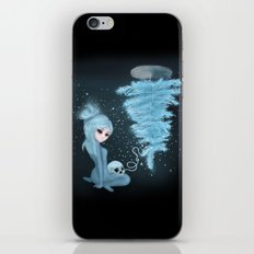 Intercosmic Christmas in Blue iPhone & iPod Skin