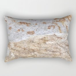 Rust Detail Stone // Unique Textured Naturally Made Material Rocky Accent Rectangular Pillow