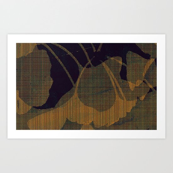 ginkgo biloba_plaid Art Print
