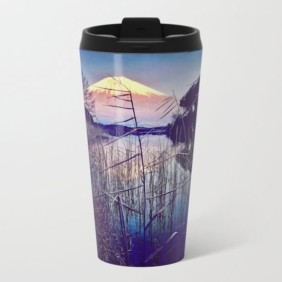 The Red in Deep Blue Metal Travel Mug