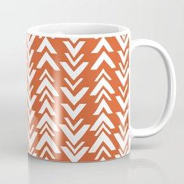 Burnt Orange Tribal Arrow Print Coffee Mug