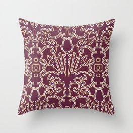 Medieval beautiful Burgundy ornament Throw Pillow