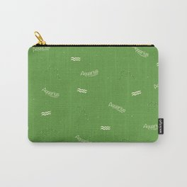 Aquarius Pattern - Green Carry-All Pouch
