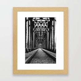 Get Off the Tracks Framed Art Print