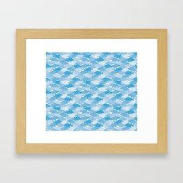 Jason's Blue Hogfish Camo Framed Art Print
