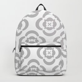 flowers in gray Backpack
