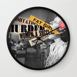 The talking girl Wall Clock