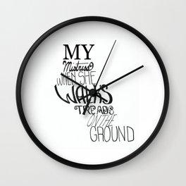 Sonnet 130 Wall Clock