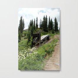 Black Bear Pass Road - Gold Rush Ore Loading Chute, No. 2 of 3 Metal Print