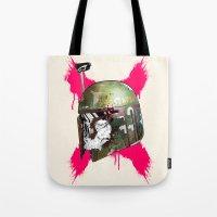 boba fett Tote Bags featuring Boba Fett by efan