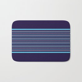 Stripes Pattern #206 (navy blue) Bath Mat