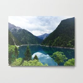 长海 // Long Lake, Jiuzhaigou Metal Print
