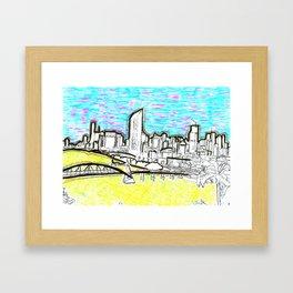BRISBANE POSTCARD SERIES 018 Framed Art Print