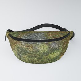 Old stone wall with moss Fanny Pack