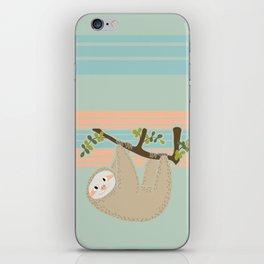 Cute Sloth Hanging From Tree - baby animal cute kids nursery iPhone Skin