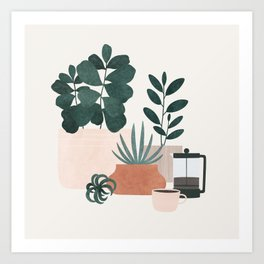 Coffee & Plants x The Sill Art Print