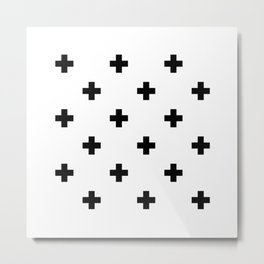 Swiss cross pattern Metal Print