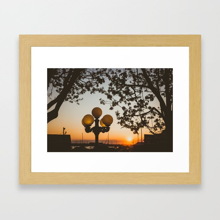 Sunset in Newport Framed Art Print