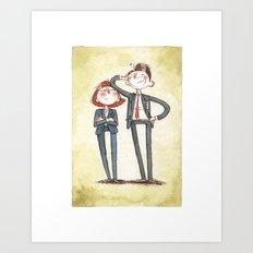Mulder + Scully Art Print